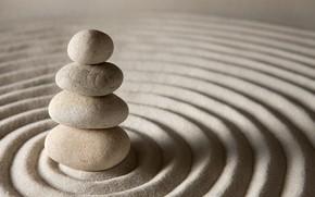 Wallpaper stone, sand, zen, stones, sand