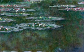 Wallpaper flowers, nature, pond, picture, Claude Monet, Claude Monet, Water lilies