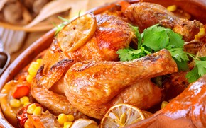 Picture orange, chicken, vegetables