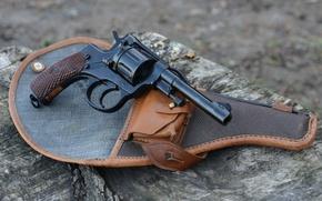 Wallpaper holster, The Russian Empire, system of a Revolver, Revolver