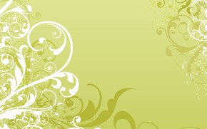 Wallpaper white, green, pattern, vector, texture, ornament, Abstract, design, background