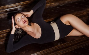 Picture pose, model, hands, figure, tights, Veronika Evdokimova, Dmitry Lobanov