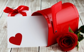 Picture red, love, heart, romantic, sweet, gift, roses, red roses, valentine`s day