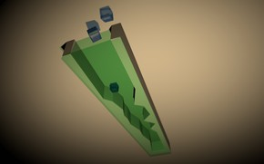 Picture abstract, relax, cubes, positive, blender3d, 3dart