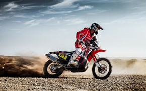 Picture Honda, Rally, Dakar, Dakar, Rally, Motorcycles, 61, Sands