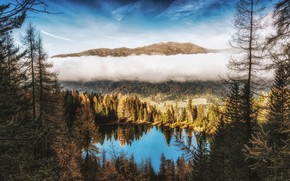 Picture The sky, Nature, Clouds, Mountains, Forest, Landscape