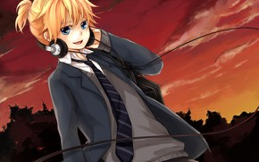 Picture anime, boy, art, guy, Vocaloid, Vocaloid, character, Len