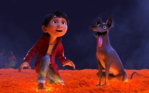 Wallpaper USA, Coco, dog, animated film, boy, dreamer, animated movie, Mexico
