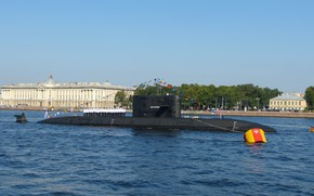 Picture parade, Saint Petersburg, Navy, diesel submarine, the project 677