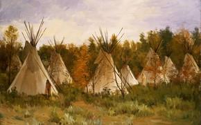 Picture nature, hut, Joseph Henry Sharp, Taos, The Summer Camp
