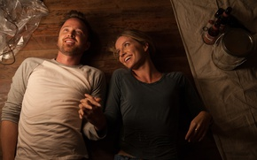Picture the film, frame, pair, lovers, two, on the floor, lie, smile, Aaron Paul, Aaron Paul, …