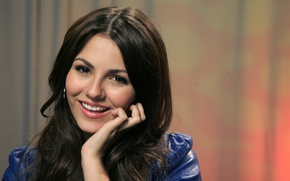 Picture smile, background, model, portrait, makeup, actress, hairstyle, singer, brown hair, beauty, Victoria Justice, Victoria Justice, …