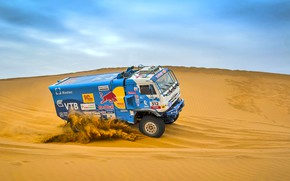 Picture The sky, Sand, Nature, Sport, Speed, Truck, Race, Master, Beauty, Russia, Beast, Kamaz, Rally, Rally, ...