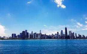 Picture the city, skyscrapers, Chicago, Michigan, usa, chicago, Illinois