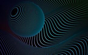 Wallpaper ball, line, art, abstraction