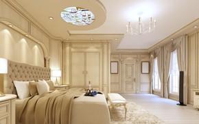 Picture bed, bedroom, luxury, bedroom