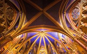Wallpaper chapel, Paris, France, chapel, Gothic, The Sainte-Chapelle