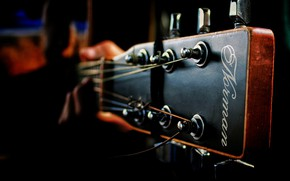 Wallpaper Music, Guitar, Macro