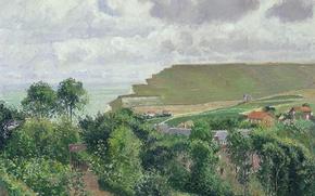Picture landscape, picture, Camille Pissarro, View Berneval