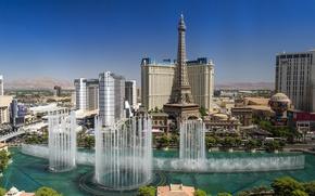 Picture Las Vegas, USA, Nevada, fountains, Las Vegas, Nevada, The Strip