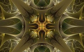 Picture pattern, khaki, green