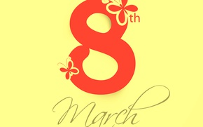 Wallpaper women's day, March 8, congratulations
