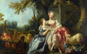 Picture Picture, Painting, Francois Boucher, Rococo, Love note