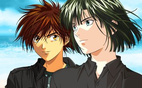 Picture art, guys, players, Hikaru no Go