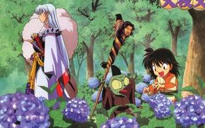 Picture Rin, Inuyasha, Sesshomaru, Jakken