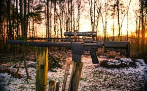 Picture background, optics, sniper rifle