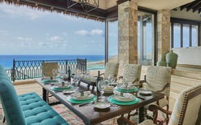 Picture Villa, terrace, dining room, British Virgin Islands, luxury villa Brise De Mer
