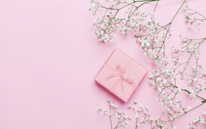 Picture flowers, background, gift, pink, pink, flowers, beautiful, romantic, present, gift, tender