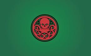 Picture green, sake, red, fon, Marvel Comics, tentacles, Hail Hydra