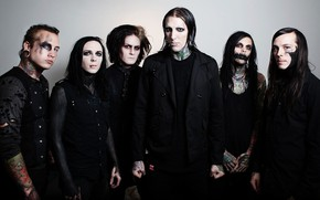 Picture metalcore, post-hardcore, Motionless In White