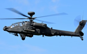 Picture the sky, helicopter, flies, Westland AH-64 Apache