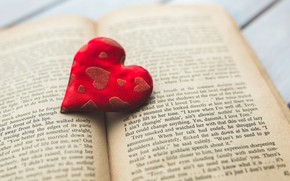 Picture love, text, letters, background, red, heart, hearts, fabric, book, Valentine, heart, Valentine's day, holidays, Valentine's …