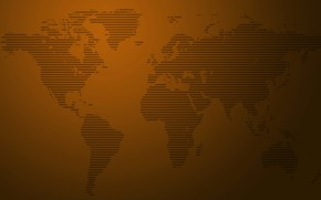 Picture abstraction, the world, map, continents