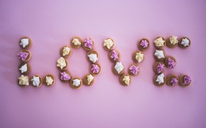 Picture love, holiday, cookies, Valentine's Day, meringue