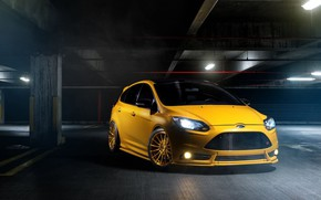 Picture Car, Yellow, Sport, Ford Focus St