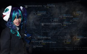 Picture girl, gun, pistol, game, weapon, cosplay, mask, Payday 2, Payday, by Irako, Meiko Hates