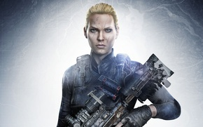 Picture girl, gun, game, soldier, weapon, sniper, blonde, rifle, Sniper: Ghost Warrior 3, Ghost Warrior, Sniper ...