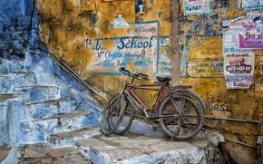 Wallpaper naturalism, street, bikes