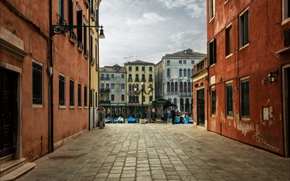 Picture street, home, boats, Italy, Venice