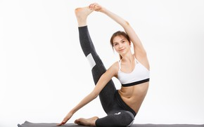 Picture brunette, female, yoga