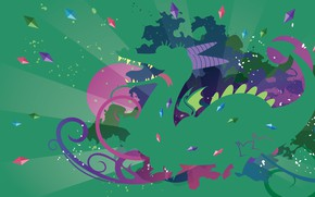 Picture language, purple, green, dirty, pink, dragon, dark, wings, teeth, paws, spikes, tail, pony, horns, crystals, ...