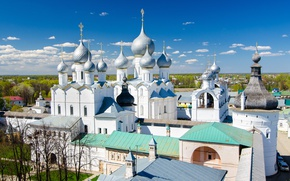 Picture spring, Church, panorama, temple, Rostov