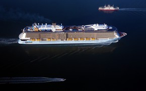 Picture The ocean, Sea, Liner, Boat, The ship, Passenger liner, Ferry, Anthem of the Seas