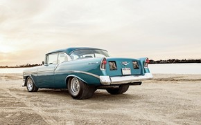 Picture Chevrolet, Bel Air, Old, 1956, Parachute