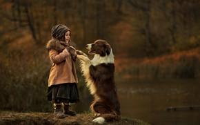 Picture joy, surprise, dog, girl