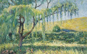Picture landscape, picture, impressionism, Blanche Monet, Blanche Hoschede-Monet, IVA Rose and Lilies in Giverny